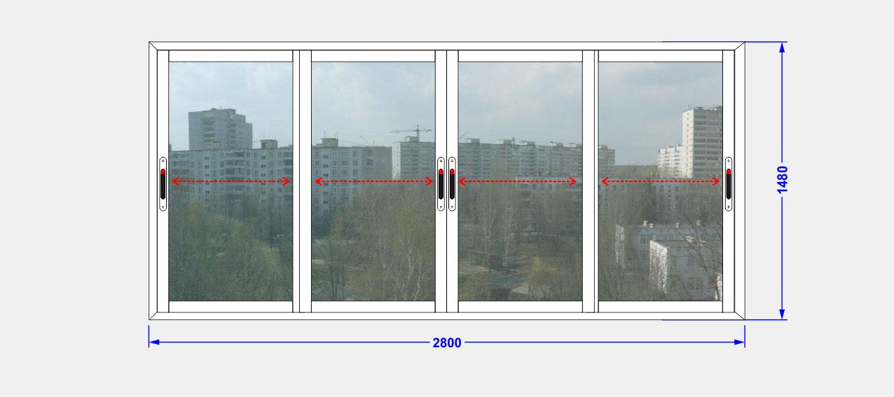 """Балкон прямой остекление providal ооо """"глория окна""""."""