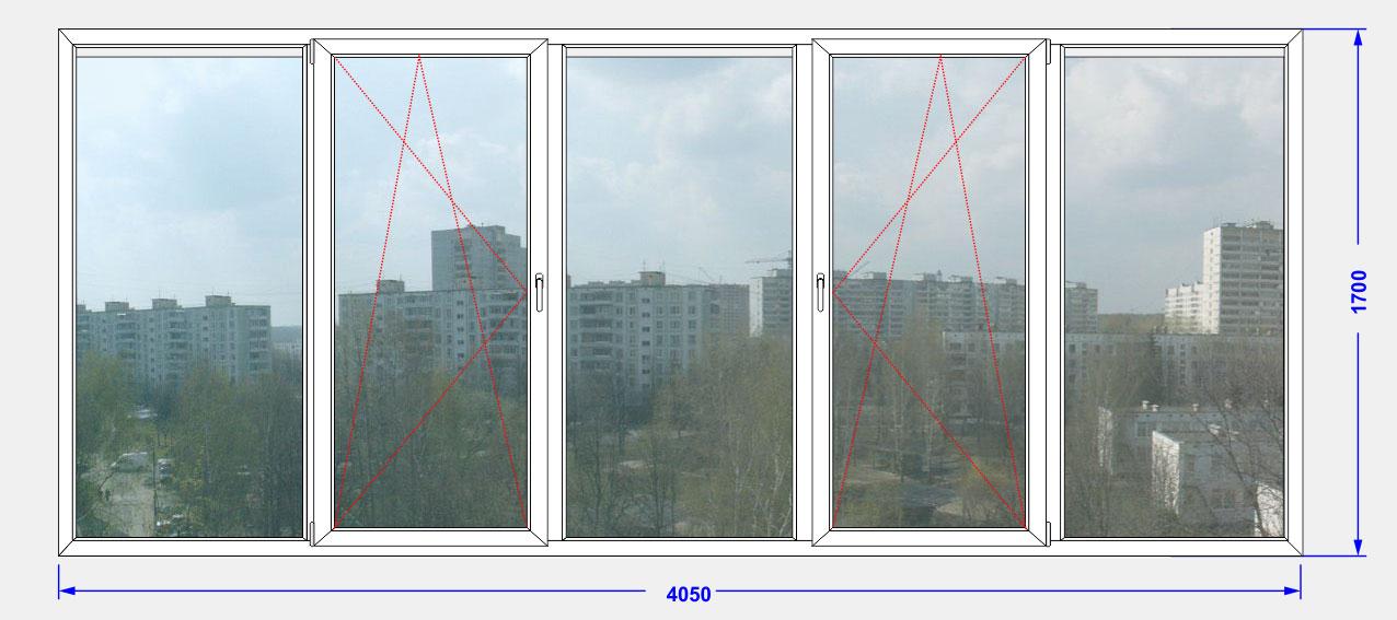 """Балкон прямой остекление """"kbe"""" энджин ооо """"глория окна""""."""
